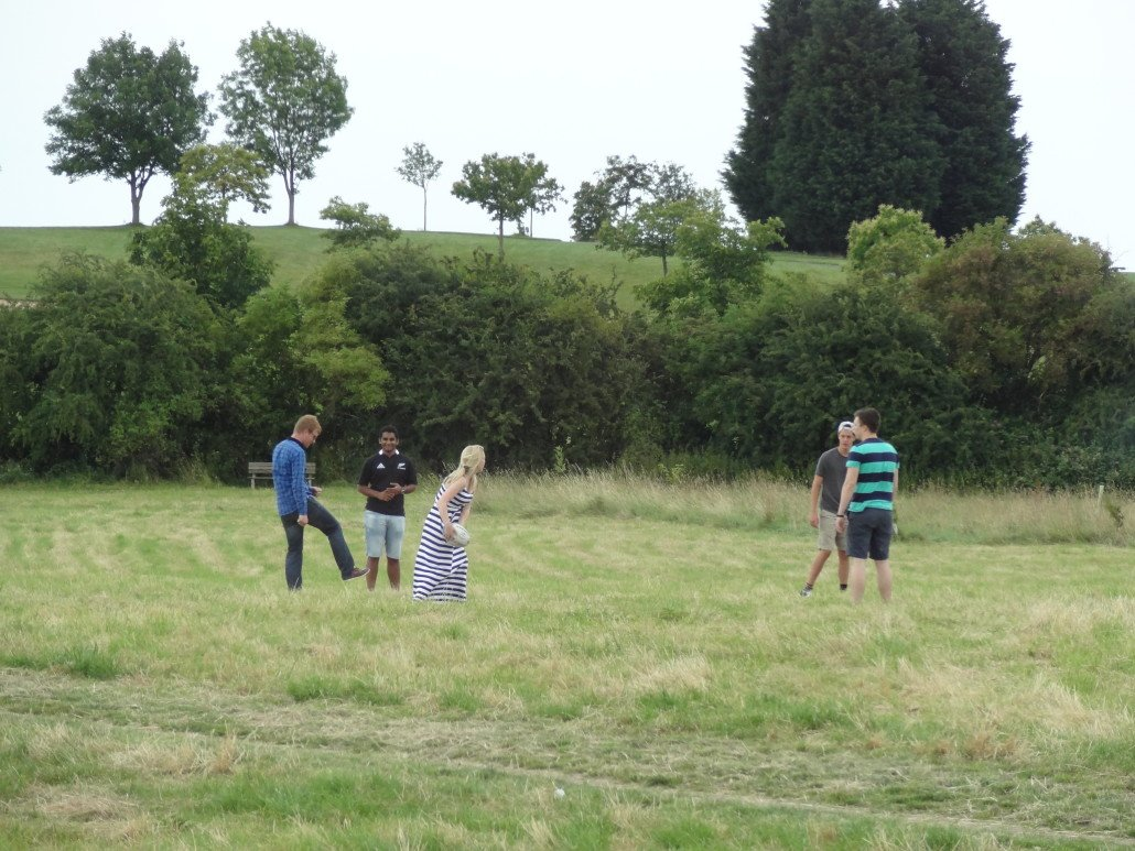 Family playing ball - Summer 2014